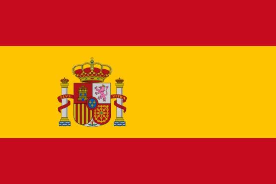 Stockfahne / Stockflagge Spanien