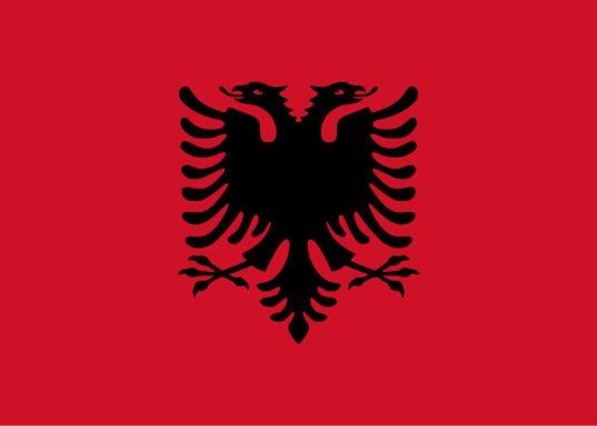 Länderfahne Albanien
