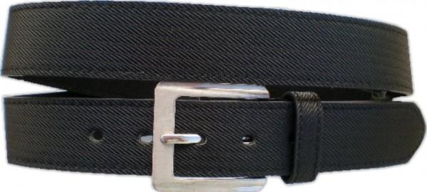 KGL 2120 - Gürtel / Kunstledergürtel / PU-Gürtel gemustert in 3,8 cm, schwarz