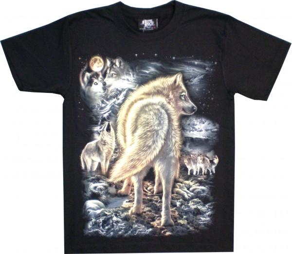 GTS176 - T-Shirt - Wolfsrudel - Glow in the dark