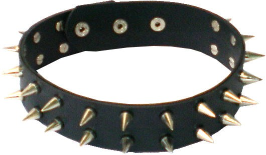 NHB 06 - Nieten-Halsband - Nieten-Halskette mit Killerspitznieten 2reihig