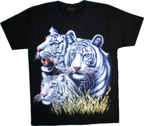 T-Shirt 3 weiße Tiger