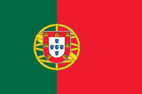 Stockfahne / Stockflagge Portugal