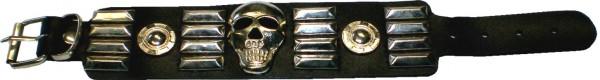 NAB 1809 - Nieten-Armband - Punk - Gothic - Totenkopf