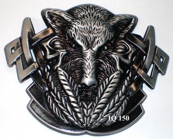 IQ 150 - Gürtelschnalle Wolf