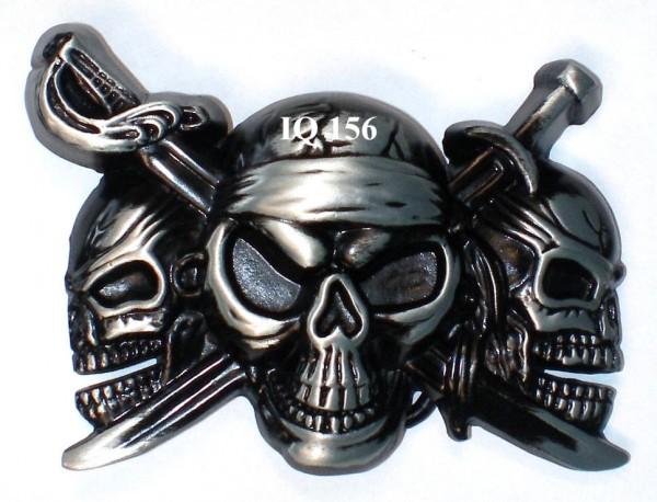 IQ 156 - Gürtelschnalle Pirat