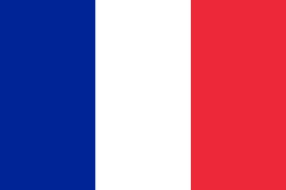 Stockfahne / Stockflagge Frankreich