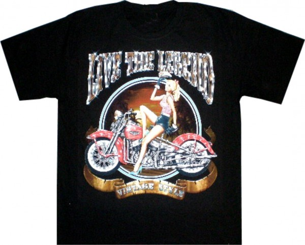 T-Shirt - Live the Legend - beidseitig farbig bedruckt