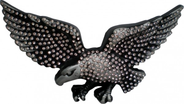 IQ 173 .- Gürtelschnallemit Strass - fliegender Adler