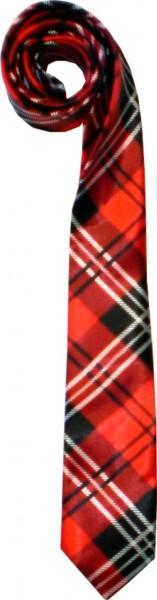 Krawatte04 - seidig glänzende Krawatten - Schottenmuster