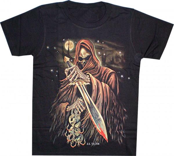 T-Shirt Skull mit Schwert