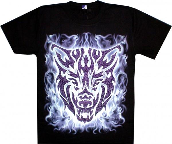 T-Shirt - Wolf - Glow in the dark
