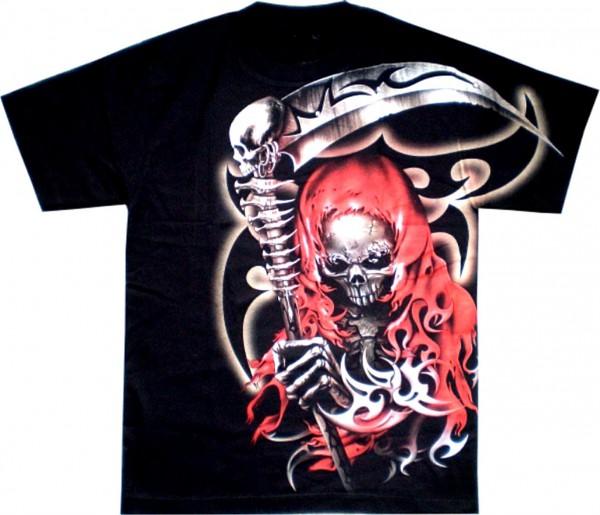 T-Shirt - Skull - Glow in the dark mit Nieten