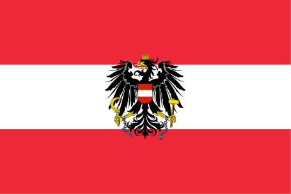 Stockfahne / Stockflagge Österreich