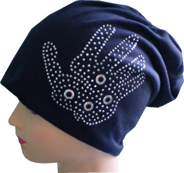 IQ1480 - Beanie - Slouch - Mütze - mit Nieten für Damen und Herren