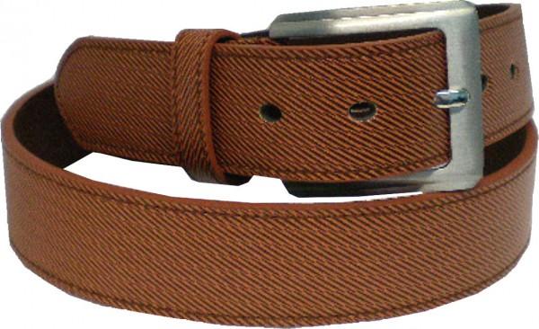 KGL 2139 - Gürtel / Kunstledergürtel / PU-Gürtel gemustert in 3,8 cm, braun