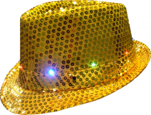 HUT 1358 - LED-Hut - Trilby-Hut - Partyhut in vielen Farben