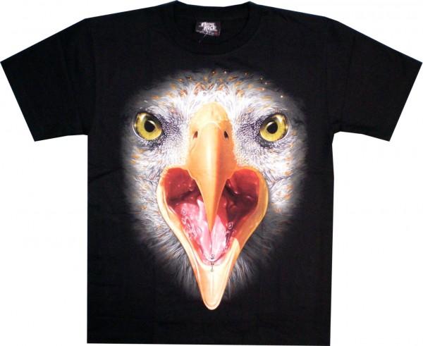 T-Shirt - Adlerkopf - Glow in the dark mit Kristallen