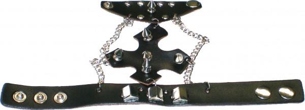 NAB 1828 - Nieten-Armband - Punk - Gothic - mit Killer-/Pyramidennieten