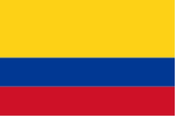 Länderfahne Kolumbien