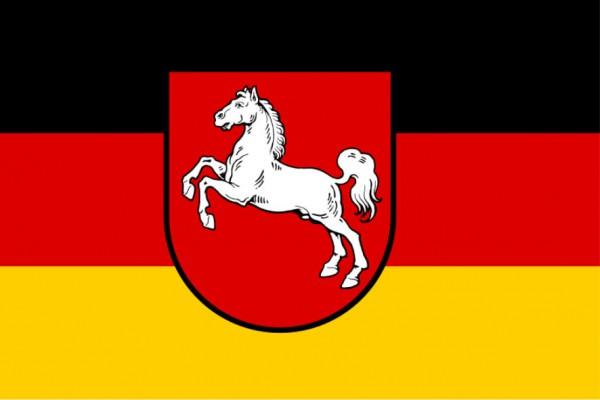 Stockfahne / Stockflagge Niedersachsen
