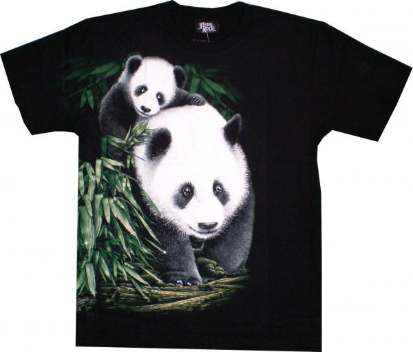 T-Shirt - Panda - Glow in the dark mit Kristallen