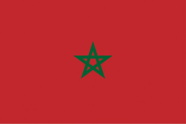 Länderfahne Marokko