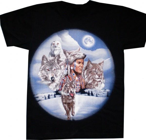 T-Shirt Wolf / Indianer / Lux