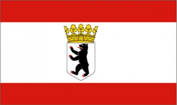 Länderfahne Berlin Bär mit Krone
