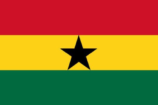 Länderfahne Ghana