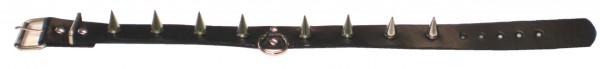 NHB 03 - Nieten-Halsband - Nieten-Halskette mit Killerspitznieten + Ring