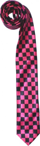 Krawatte01 - seidig glänzende Krawatten - kariert