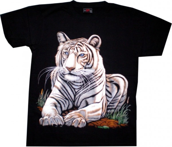 Kinder T-Shirt weißer Tiger