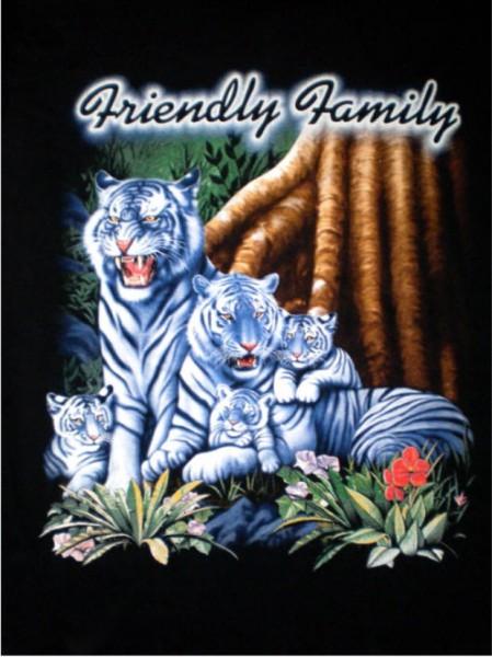 T-Shirt mit weißen Tigern - Friendly family