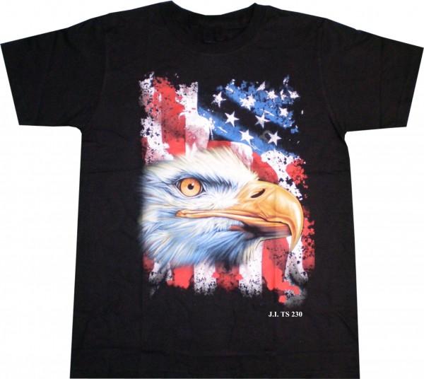 T-Shirt mit Adler + US-Flagge