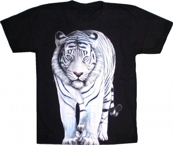 T-Shirt weißer Tiger