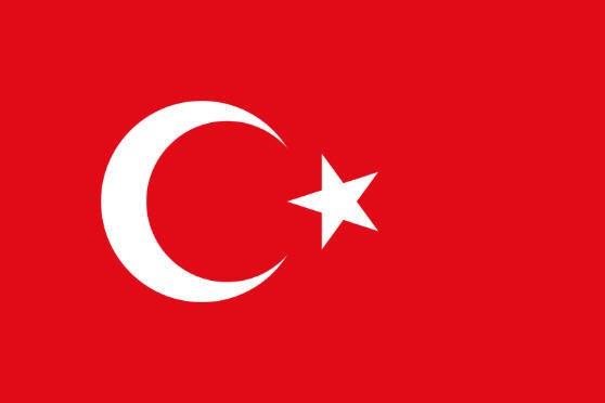 Stockfahne / Stockflagge Türkei