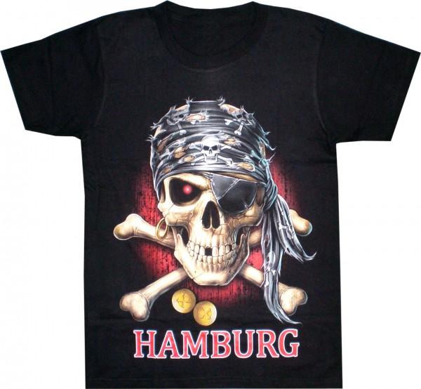 "T-Shirt mit Pirat in ""HAMBURG"""