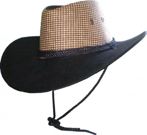 HUT 1872 - Hut - Cowboyhut - Westernhut mit Kordel und Kinnband
