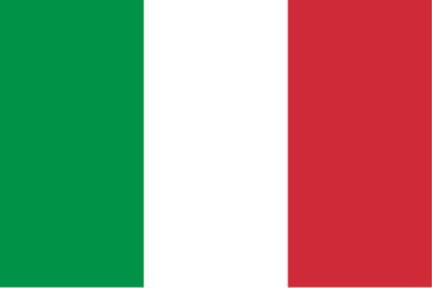 Stockfahne / Stockflagge Italien