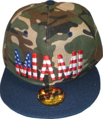 Cap IQ1160 - Basecap - Snapcap in camouflage mit US-City