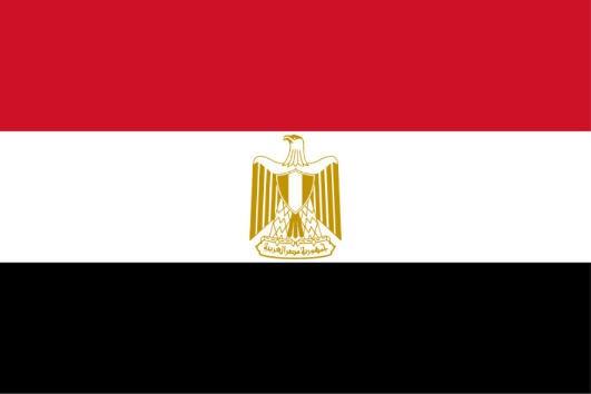 Länderfahne Ägypten
