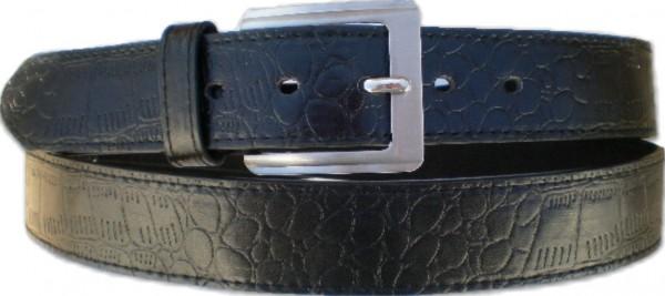 KGL 2138 - Gürtel / Kunstledergürtel / PU-Gürtel gemustert in 3,2 cm, schwarz