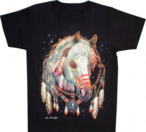 T-Shirt Pferd mit Federschmuck
