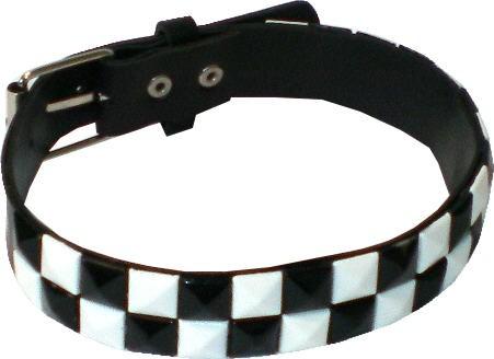 NHB 16 - Nieten-Halsband - Halskette mit farbigen Pyramidennieten