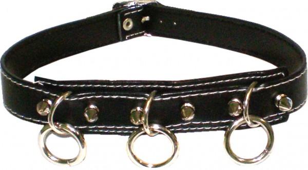NHB 13 - Nieten-Halsband - Nieten-Halskette mit Killernieten + 3 Ringen