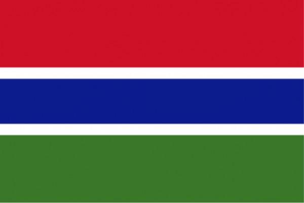 Länderfahne Gambia
