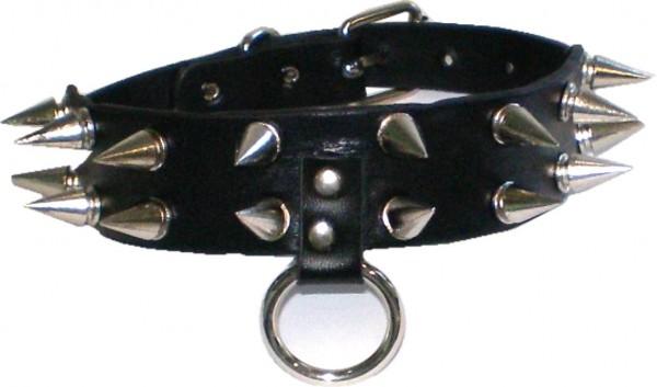 NHB 1734 - Nieten-Halsband - Nieten-Halskette mit Killerspitznieten 2reihig