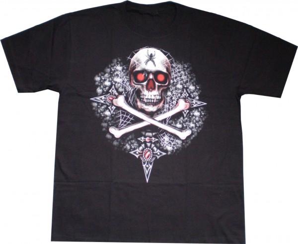 T-Shirt - Pirat - Glow in the dark mit Nieten