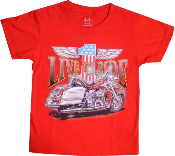 Kinder T-Shirt Live to ride